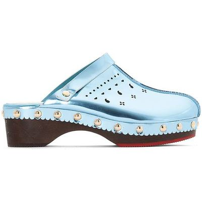 Perforated Leather Clogs