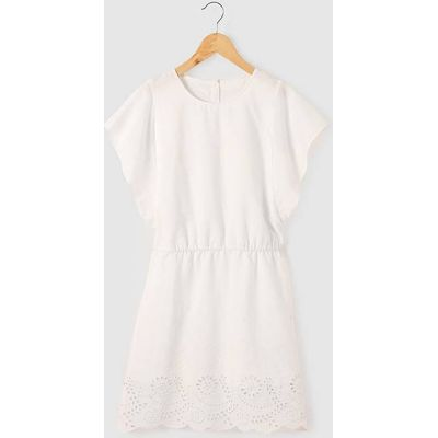 Cotton Broderie Anglaise Dress, 10-16 Years