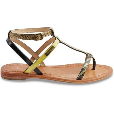 Baie Flat Leather Sandals