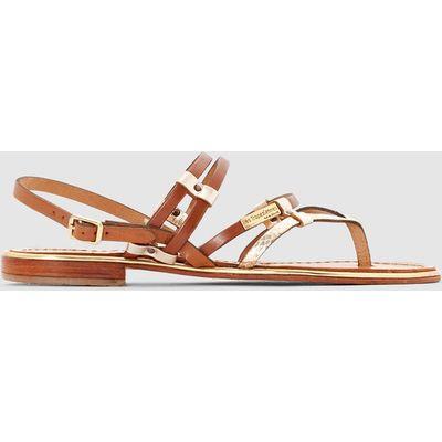 Cumin Flat Leather Sandals