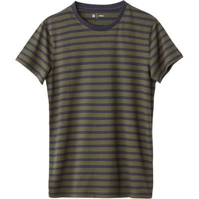 100% Cotton Striped Crew Neck T-Shirt