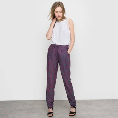 Softly Draping Printed Trousers