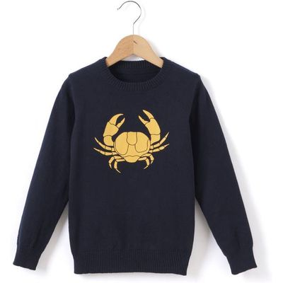 Crab Motif Jumper, 3-12 Years