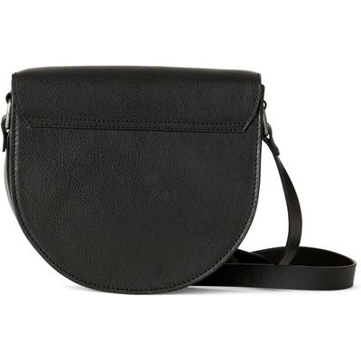 Woman's grained leather messenger bag, HLOBO