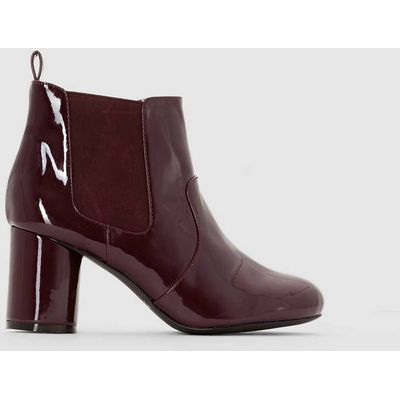 Patent Heeled Ankle Boots