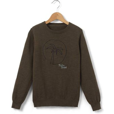 Jumper with Palm Tree Embroidery, 3-12 Years