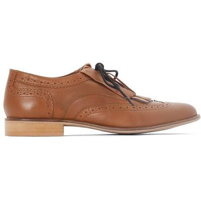 Leather Brogues with Mexican Tab
