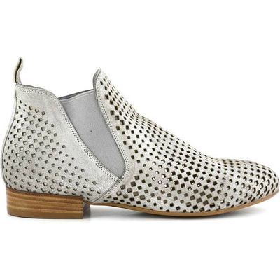 EB244 Openwork Leather Ankle Boots