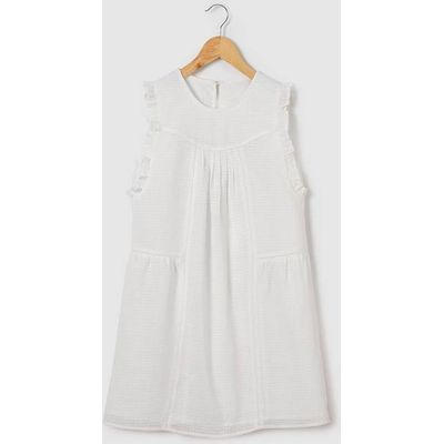 Dress with Ruffled Sleeves, 10 - 16 Yrs