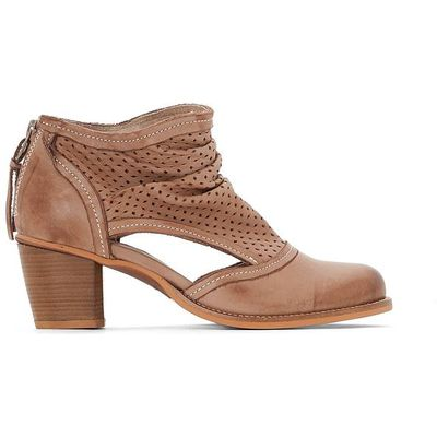 Bahal Openwork Leather Ankle Boots