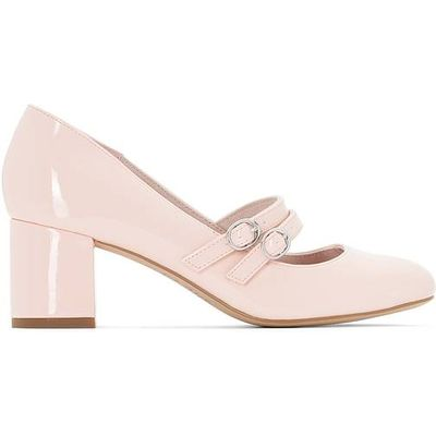Patent Ballet Pumps with Double Strap