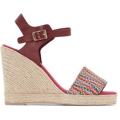 Athena Leather Wedge Sandals