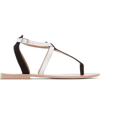 Leather Sandals with Metal Detail
