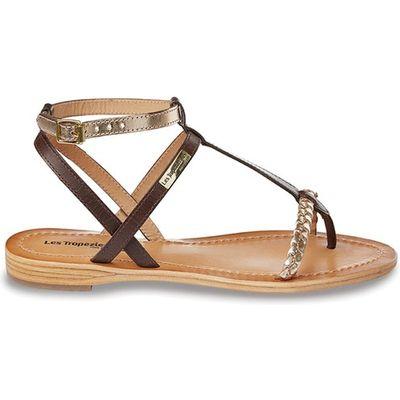 Hilatres Flat Leather Sandals