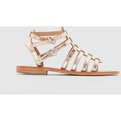 Hic Flat Leather Sandals