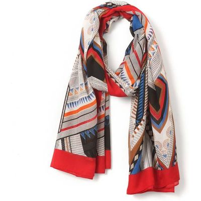 Graphic Ethnic Print Scaf