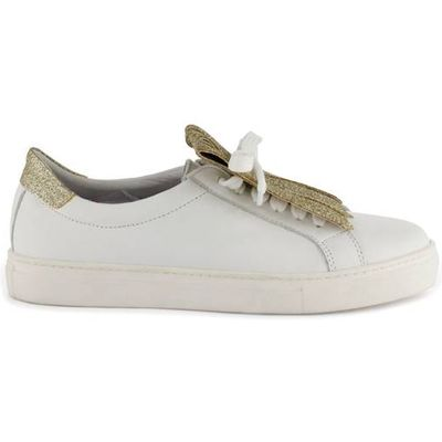 Inoa Leather Trainers with Fringed Tab