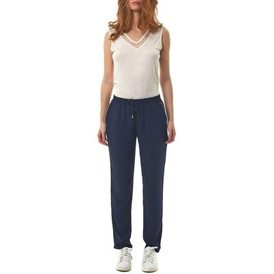 Straight Trousers with Elasticated Waist