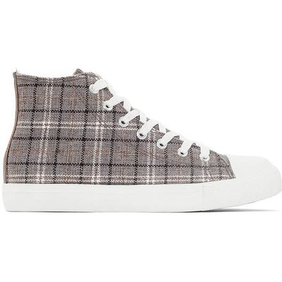 Checked High Top Trainers