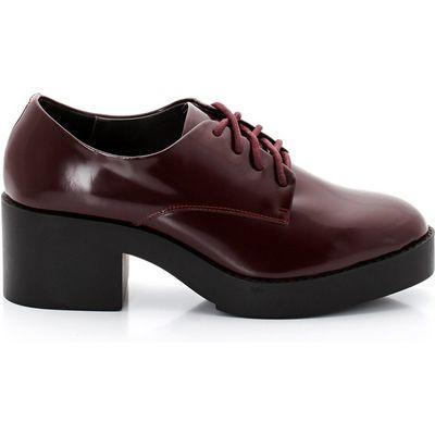 Edoli Glacé Leather Brogues, 5 cm Heel