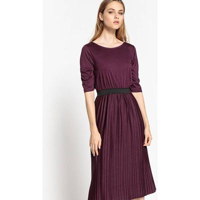 Pleated Midi Length Dress