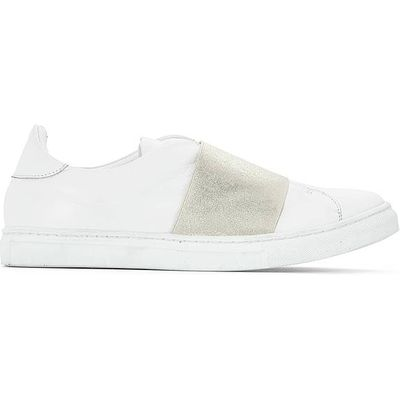 Leather Trainers with Elasticated Detail