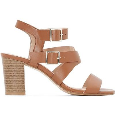 Leather Sandals with Double Buckle