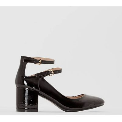 Patent Heels with Straps