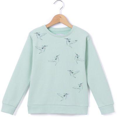Hummingbird Print Long-Sleeved Sweatshirt, 3-12 Years