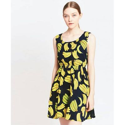 Banana Print Dress