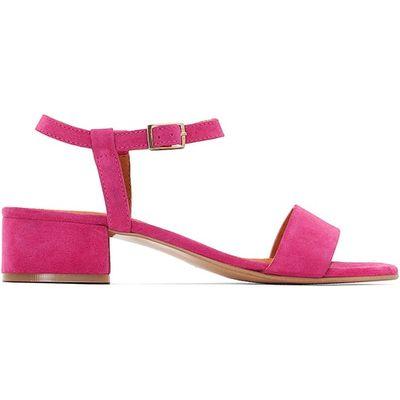 Leather Sandals with Medium Heel
