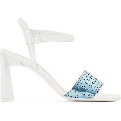 Leather Sandals with Perforated Strap