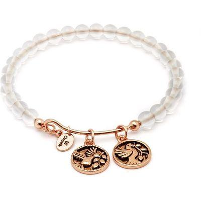 Chrysalis Rose Gold Truth White Quartz Bangle