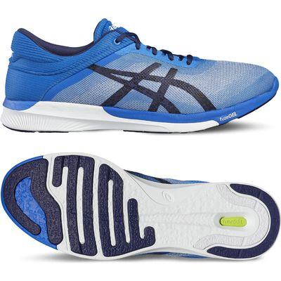 Asics FuzeX Rush Mens Running Shoes - Blue/White, 9.5 UK