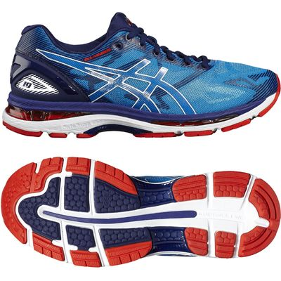 Asics Gel-Nimbus 19 Mens Running Shoes - Blue/White, 10.5 UK