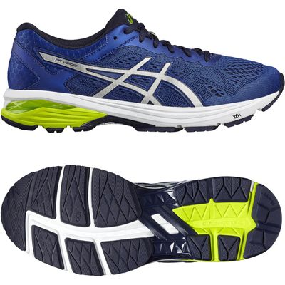 Asics GT-1000 6 Mens Running Shoes - Blue/Silver, 7 UK