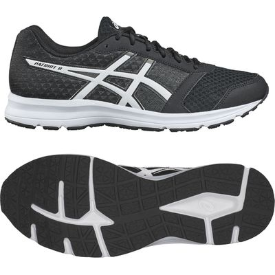 Asics Patriot 8 Mens Running Shoes - Black, 11.5 UK