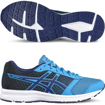 Asics Patriot 8 Mens Running Shoes SS17 - Blue, 7 UK