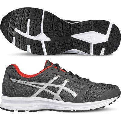 Asics Patriot 8 Mens Running Shoes SS17 - Grey/White, 7.5 UK
