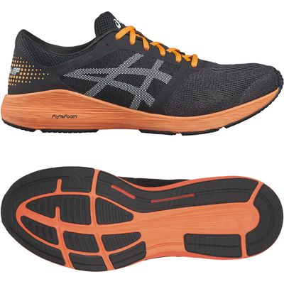 Asics RoadHawk FF Mens Running Shoes - Black/Orange, 11 UK