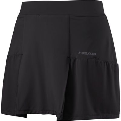 Head Club Basic Long Ladies Skort - Black, S