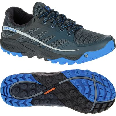 Merrell All Out Charge Mens Running Shoes - Black/Blue, 10 UK