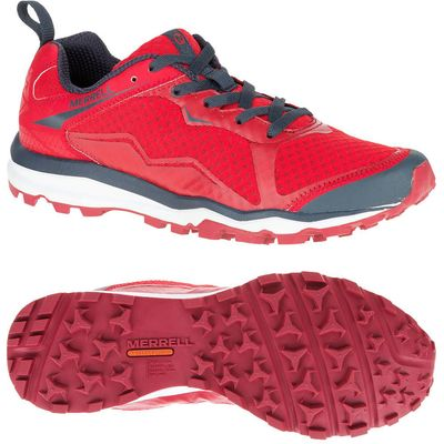 Merrell All Out Crush Light Mens Running Shoes - Red, 12 UK