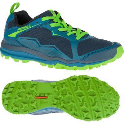 Merrell All Out Crush Light Mens Running Shoes - Green, 9.5 UK