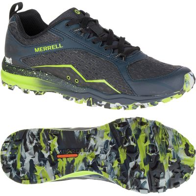 Merrell All Out Crush Mens Running Shoes - Black/Green, 10 UK