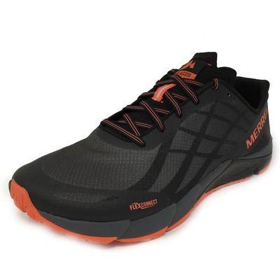 Merrell Bare Access Flex Mens Running Shoes - Black, 8 UK