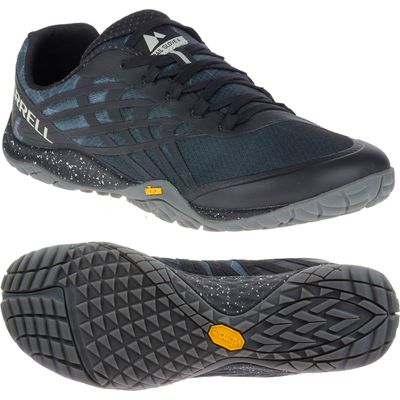 Merrell Trail Glove 4 Mens Running Shoes - Black, 7 UK