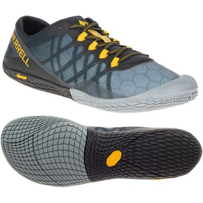 Merrell Vapor Glove 3 Mens Running Shoes - Grey, 10 UK