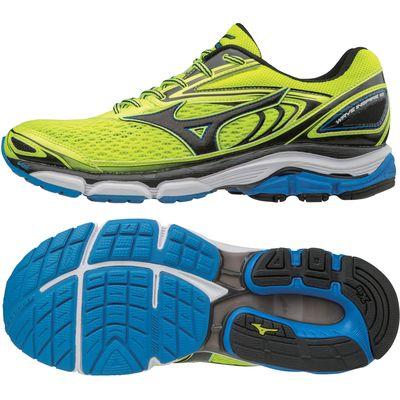 Mizuno Wave Inspire 13 Mens Running Shoes - Yellow/Black, 8 UK
