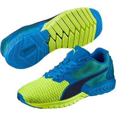 Puma Ignite Dual Mens Running Shoes - Blue/Yellow, 7.5 UK